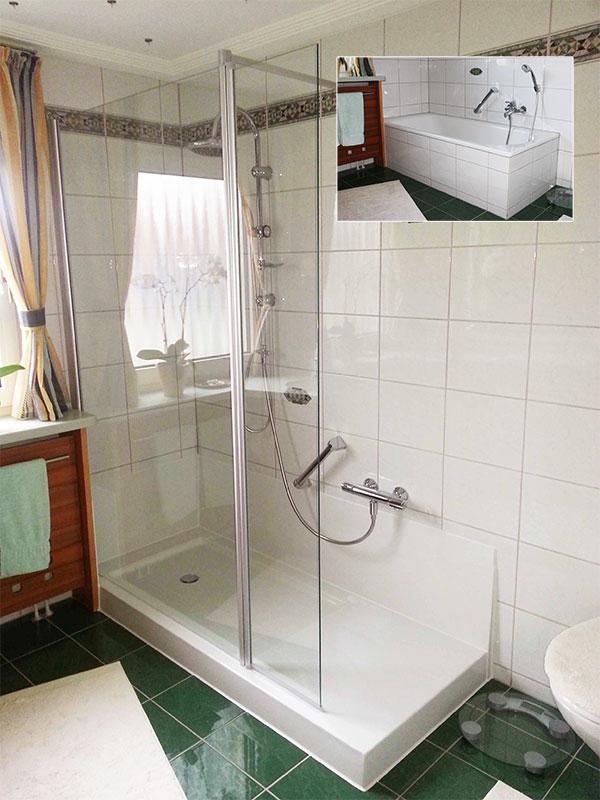 dusche wanne in wanne verschiedene design. Black Bedroom Furniture Sets. Home Design Ideas