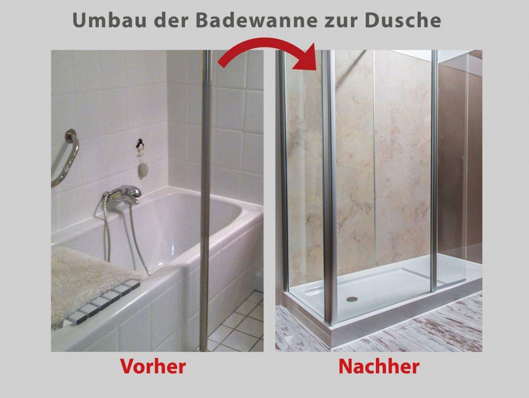 wanne zur dusche in nur 8 stunden badbarrierefrei berlin. Black Bedroom Furniture Sets. Home Design Ideas